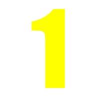 Yellow Wheelie Bin Number 1