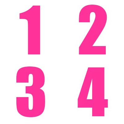 Pink Numbers Kit