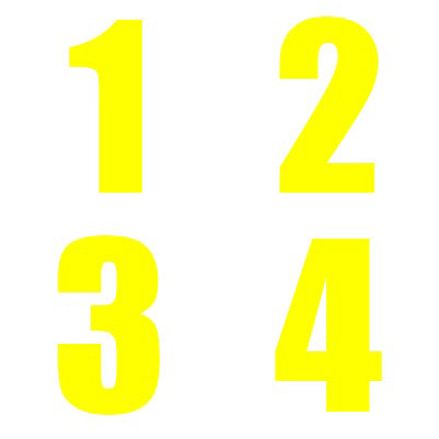 Yellow Numbers Kit