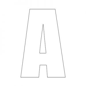 reflective wheelie bin letter a