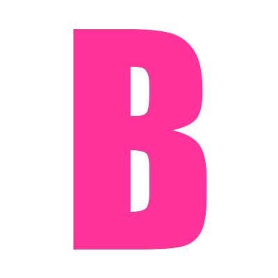 Pink Wheelie Bin Letter B