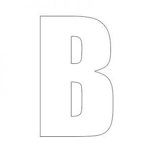 reflective wheelie bin letter b