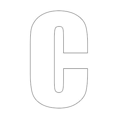 White Vinyl Self-Adhesive Letter C