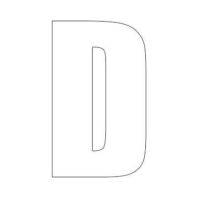 White Vinyl Self-Adhesive Letter D