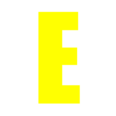 Yellow Wheelie Bin Letter E