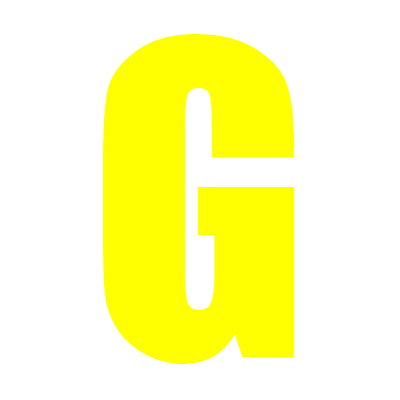 Yellow Wheelie Bin Letter G