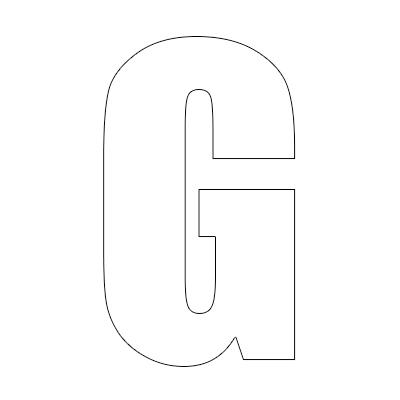 White Vinyl Self-Adhesive Letter G
