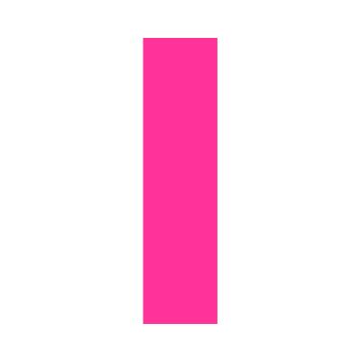 Pink Wheelie Bin Letter I