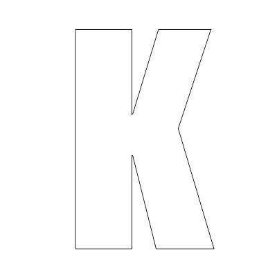 White Vinyl Self-Adhesive Letter K