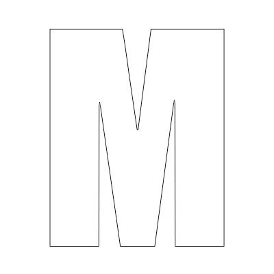 White Vinyl Self-Adhesive Letter M