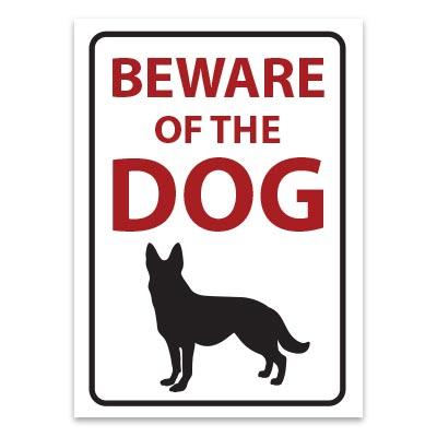 Beware of the dog German Shepard sticker