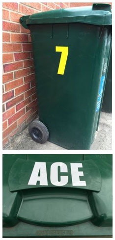 Examples of Wheelie bin stickers
